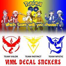 Vinyl Decal Sticker Pokemon Go Game Team Mystic Instinct Valor Window Car Anime