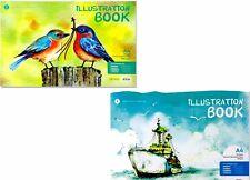 A4 Cartucho de blanco Sketch Book Pad-Art Craft paisaje Ilustración Libro