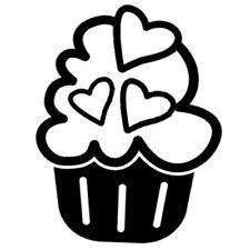 Sticker Cuisine Gateau Cupcake Glaçage Multi Coeurs dessert (CUIS068)