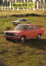 Mazda 818 Saloon & Coupe 1971-73 UK Market Foldout Sales Brochure