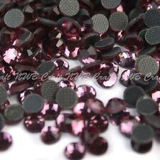 Lilac Hotfix Iron On Glass Rhinestones Flat Back Crystals Diamante Gems