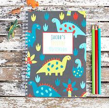 Dinosaurios Personalizado Cuaderno Infantil Niña Niño Idea Regalo Varios Tamaños