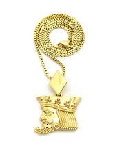 """24"""" Various Chain Necklace Xqp85 Hip Hop Poker King Face Pendant"""