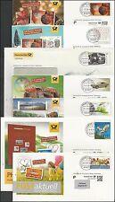 Verschiedene Eigenausgaben der Deutschen Post zur Auswahl