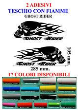 2 Adesivi TESCHIO CON FIAMME GHOST RIDER Moto SERBATOIO decals sticker TUNING