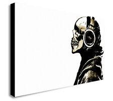 DJ SKULL BANKSY Canvas Wall Art Print. Various Sizes