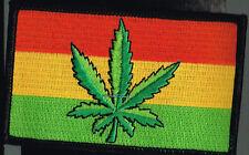 "Wholesale Lots Marijuana Rasta Flag Iron On Patch 4"" x 2.5"" Stoner NS-PH425"