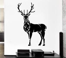 Wall Decal Deer Horn Elk Hunting Animal Forest Hooves Vinyl Stickers (ed234)