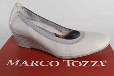 Marco Tozzi Pumps Ballerina Slipper hellgrau weiche Innensohle Echtleder NEU!