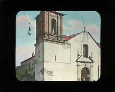 "Lantern Slide, Spanish Church, Mexico ""Se Prohibe Fijar Anuncios"" Sign, c1920"