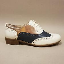 Clarks Hamble Oak Off White Combi 26117407 Damenschuhe Schnürschuhe weiß blau