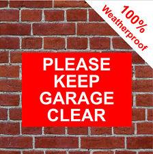 PLEASE Keep Garaje transparente resistente a la intemperie Letrero 9039