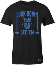 """""""LOOK DOWN"""" T-Shirt to Match Foamposite """"HYPER COBALT"""" Foams"""
