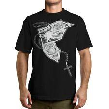 Famous Stars and Straps Chuey Rose Mens Black T-Shirt Urban Streetwear