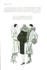 Publicité Ancienne  Mode Manteau Lunasol blanc  1928