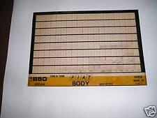 Fiat/Lancia Factory#603.10.191 68-69 850 Sdn.Body/Trim Parts Micro Fiche Catalog