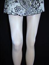 Nurse White Sexy Shiny Tights Q XL hooters peavey lingerie pantyhose