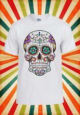 Cráneo de muerte Floral mexicano Novedad Hombres Mujeres Camiseta Chaleco Camiseta Unisex 1081