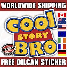 cool story bro sticker decal 85mm x 85mm jam euro bag or dub surf skate sup ski