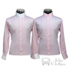 Collare Banchiere Camicia Uomo Rosa Confetto Diamante Anello Colletto Legame