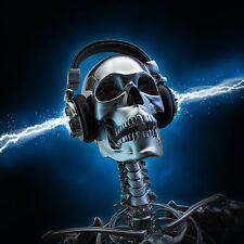 Dj Skull Totenkopf Kopfhörer Blau Pop Art Riesenposter Poster Musik Bild 101
