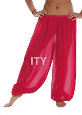 Deep Pink Chiffon Harem Yoga Pant Belly Dance Halloween Pantaloons Trousers