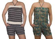 donna overall pantaloncini nero verde corto tuta collo-holder M/L Taglia unica