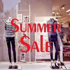 SUMMER SALE Shop Window Sign Vinyl Sticker Retail Display Advertising Decal 5338
