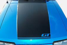 "1979-1993 Ford  Mustang GT Hood Stripe Decal Fox Body  ""Matte black"" 80 81 91 92"