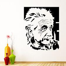 Albert Einstein Portrait Wall Sticker Decal Transfer Home Office Matt Vinyl UK