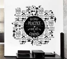 Wall Sticker Vinyl Decal Zen Meditation Yoga Poses Healthy Lifestyle (ed431)