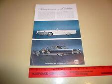 1966 Cadillac DeVille Convertible & Fleetwood Brougham - Ad/Advertisement
