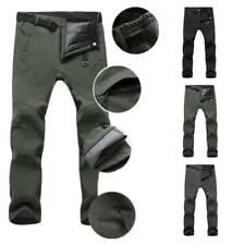 Men Winter Outdoor Hiking Ski Pantalones Fleece Windproof Waterproof Trousers AA