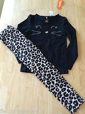 NWT Gymboree Everyday Dress UP Kitty Tee shirt Leopard Leggings Set 8 girls