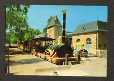 ERMENONVILLE / MER DE SABLE (60) PETIT TRAIN en GARE du CENTRE ZOO JEAN RICHARD