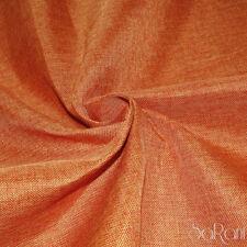 Tessuto LINONE Arancione Al Taglio per Rivestimenti Divano Copritavola h.280 cm