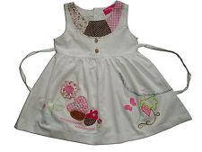 NUEVO de Bebé Niñas Algodón Vestido fiesta en rosa, blanco 3-6 to 18-24 meses