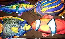 TROPICAL MARINE FISH PILLOWS by SALAMANDER