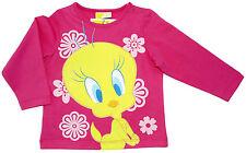 Neu!Looney Tunes Tweety Langarm Shirt Longsleeve T-Shirt Baumwolle pink 80 86 92