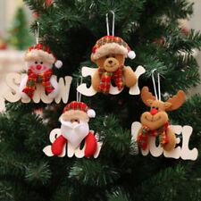Multi-color Pendants Drop Christmas Tree Santa Claus Ornaments Hanging Decor N7