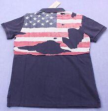 RALPH LAUREN DENIM & SUPPLY Mens BLUE DISTRESSED US USA FLAG POLO SHIRT NWT  M