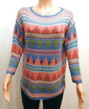 American Living Multi-Color Printed Sweater Top Women's Medium