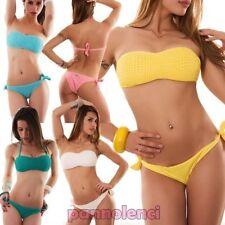 Bikini de mujer traje de baño mar banda floral ENCAJE dos piezas nuevo SE408