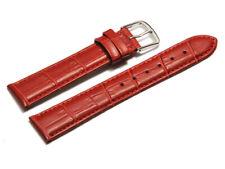 Uhrenarmband Leder Kroko Prägung rot 8,10,12,14,16,18,20,22 mm NEU