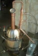 Copper Alcohol Moonshine Ethanol Still E-85 Reflux 2 Gallon Stainless Boiler
