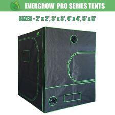EverGrow Hydroponics Grow Tent 2x2 3x3 4x4 5x5 FT 600D Mylar Fabric Heavy Duty