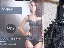 Marks & Spencer Autógrafo Negro Encaje Sexy Vasco Oudinot (nuevo) - tamaños de 32C, 38C,