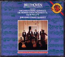 JUILLIARD STRING QUARTET: BEETHOVEN 6 Streichquartett Op.18 No.1-6 CBS 3CD