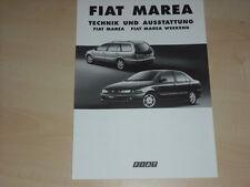 41361) Fiat Marea + Weekend - technische Daten + Ausstattung - Prospekt 09/1996