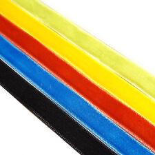 10mm Velvet Ribbon Reel - Quality Soft Polyester - 25 Metre 15 Colours Clearance